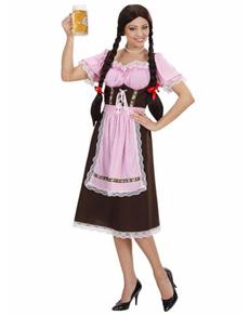 Kostuum Beierse in het roze voor vrouwen