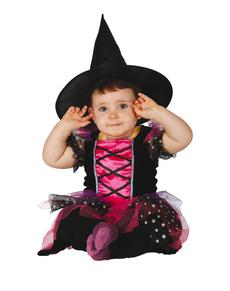 Roze heksje kostuum voor baby
