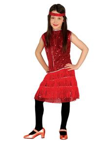 Rood charleston kostuum voor meisjes