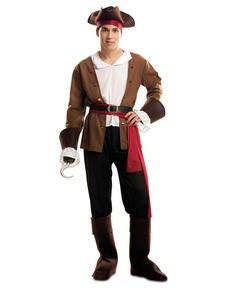 Avontuurlijke zeerover piraat kostuum voor manen