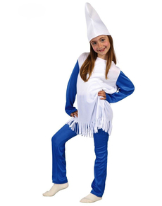 Blauwe Dwerg kostuum voor Meisjes